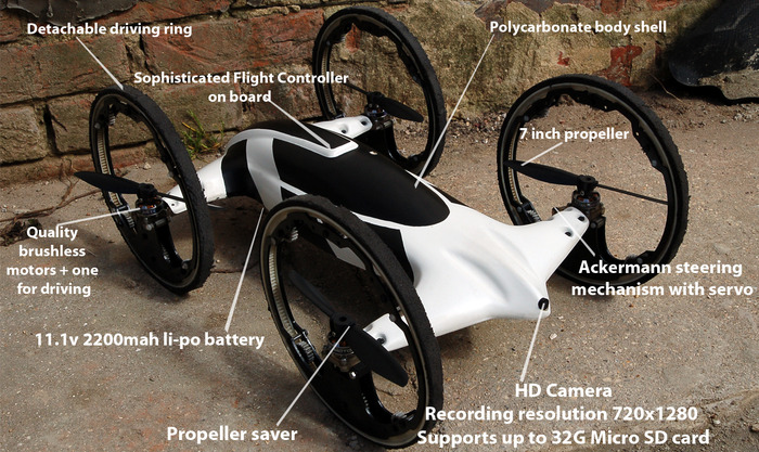 quadkopter arazi aracı-gerçek bilim