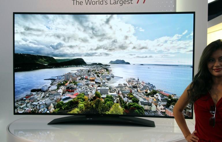 lg 77 en büyük kavisli oled tv