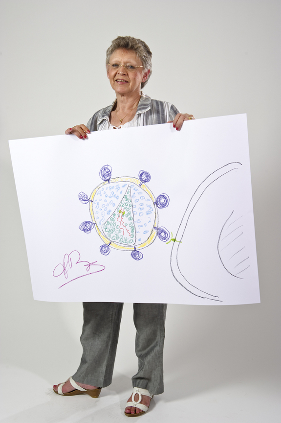 Francoise Barre-Sinoussi, physiology or medicine, 2008