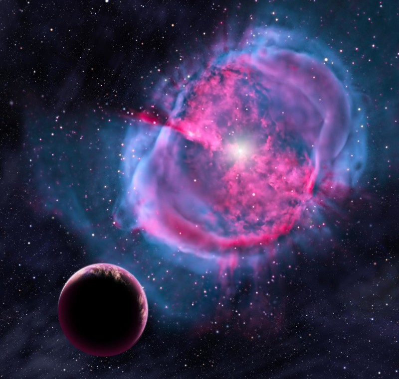 Evrilen Gezegensel Nebula Credit: David A. Aguilar (CfA)