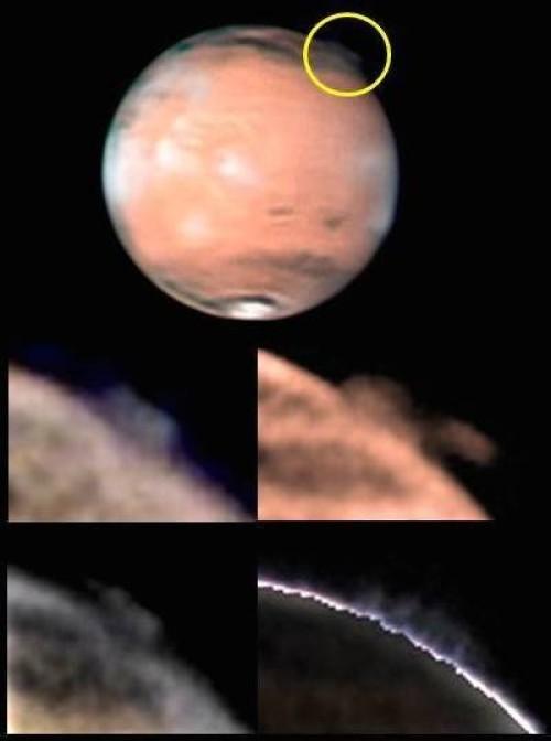 mars gizemli gaz kütleleri