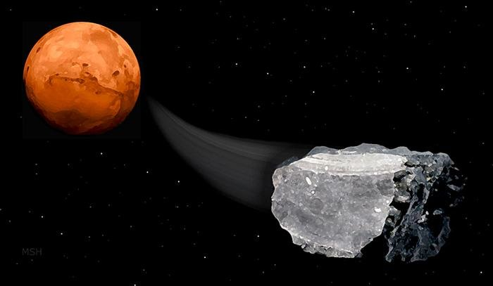 Bilim İnsanları Mars Göktaşlarında Yaşam Belirtisi Metana Rastladı