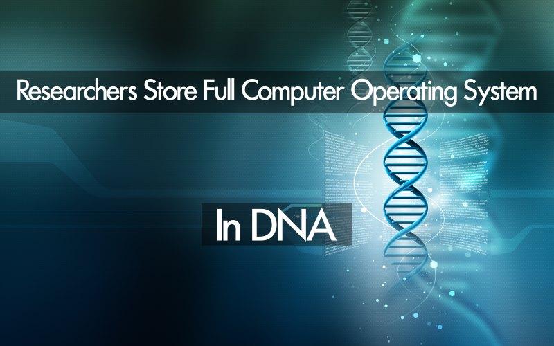 DNA'ya İşletim Sistemi ve Bilgisayar Virüsü Yüklendi