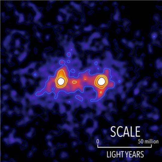 İşte Galaksileri Birbirine Bağlayan Karanlık Maddenin İlk Görüntüsü
