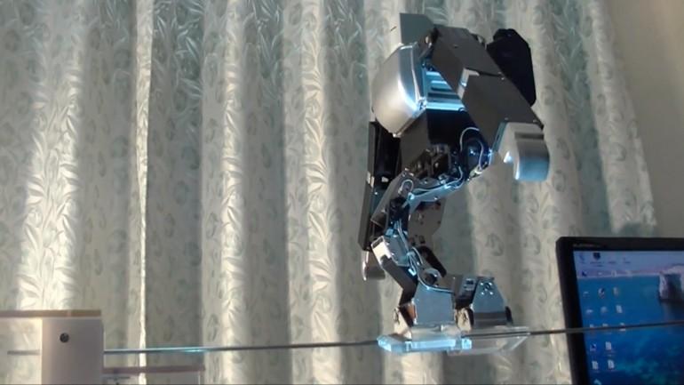 Robot İpte yürürken