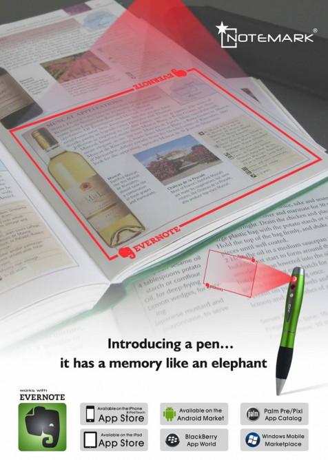 notemark lazer projeksiyonlu tarayıcı kalem