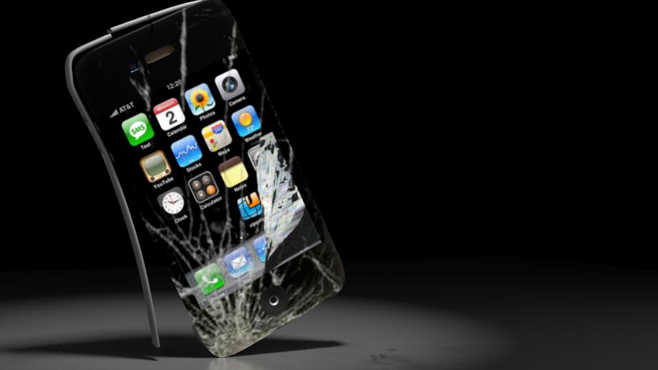 kırılmış iphone