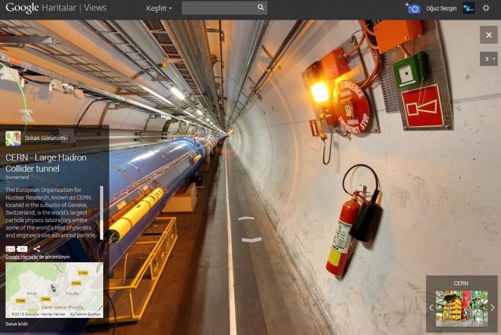 LHC içi 360 -gerçek bilim