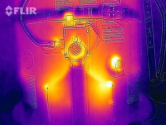 Sıcak suyun termal görüntüsü