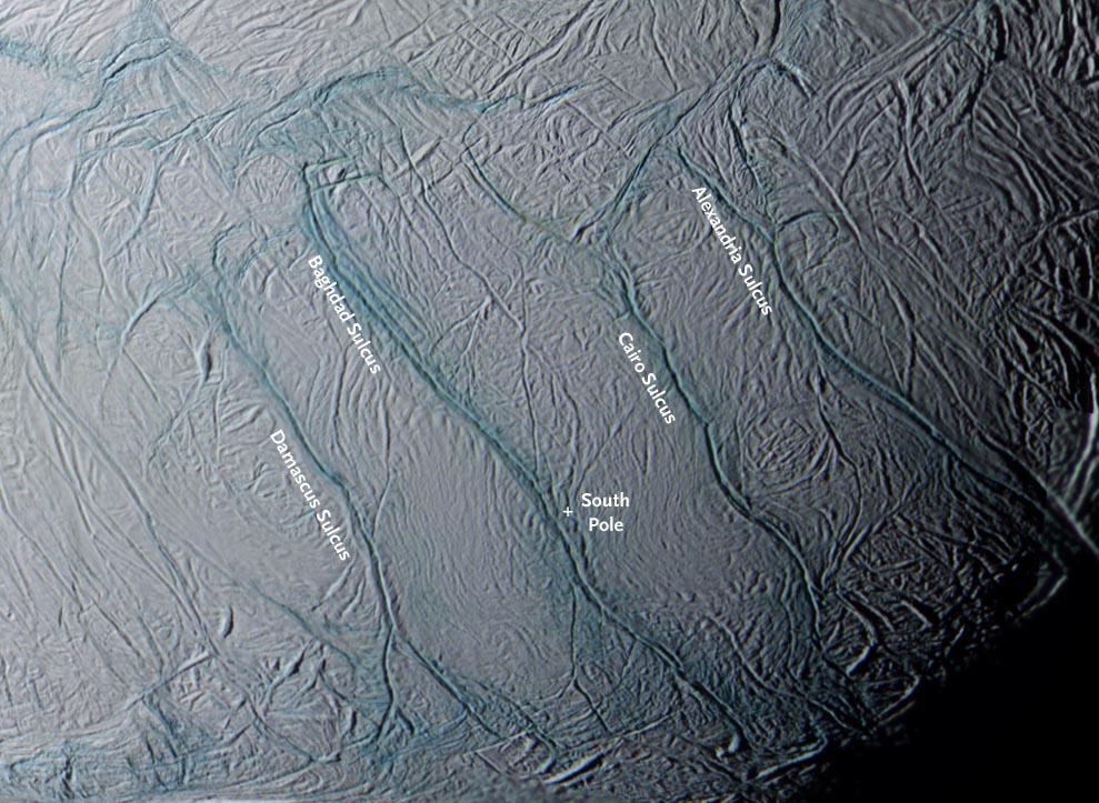 Enceladus kaplan çizgileri-gerçek bilim