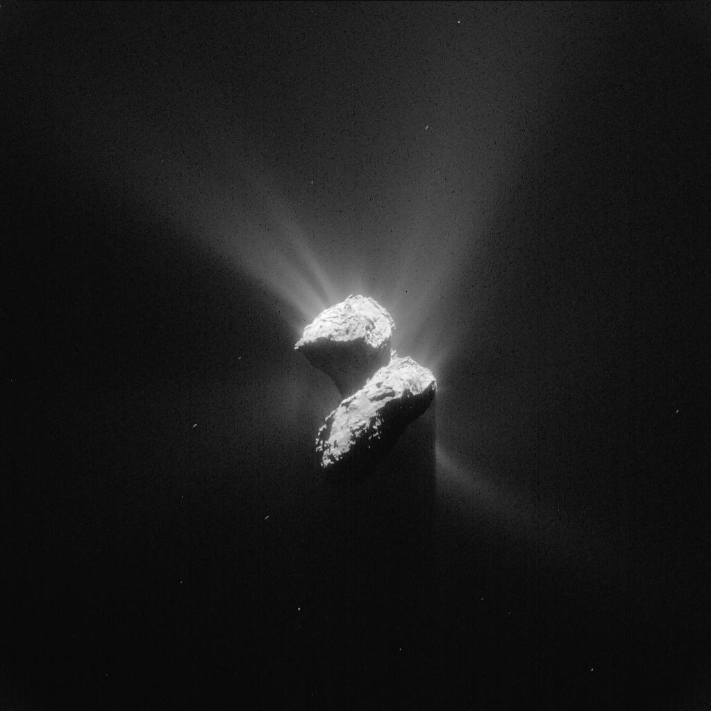 Rosetta'dan 200km uzaktan alınan kuyruklu yıldız görüntüsü 5 Haziran 2015
